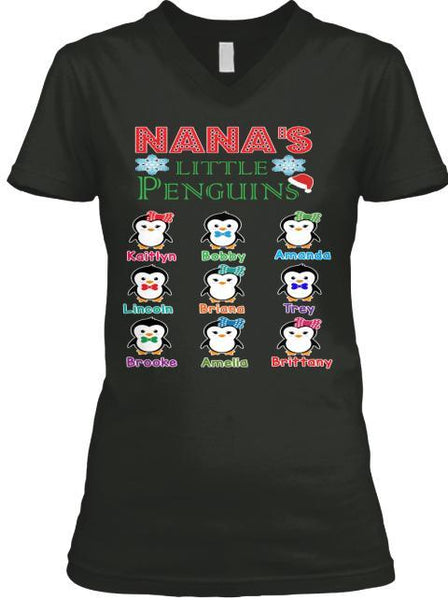 Grandma - Nana's Little Penguins Holiday Season Special(Flat 70% Off) Get Your Little Cuties On Your T-shirt And More. Most GrandParents/Parents Buy 2-3
