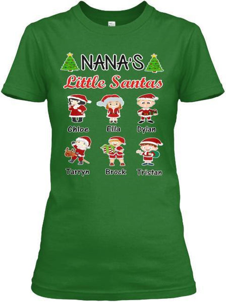 Grandma - Nana's Little Santas Christmas Special(Flat 70% Off) Get Your Little Santa Kids T-shirt And More Christmas Colors