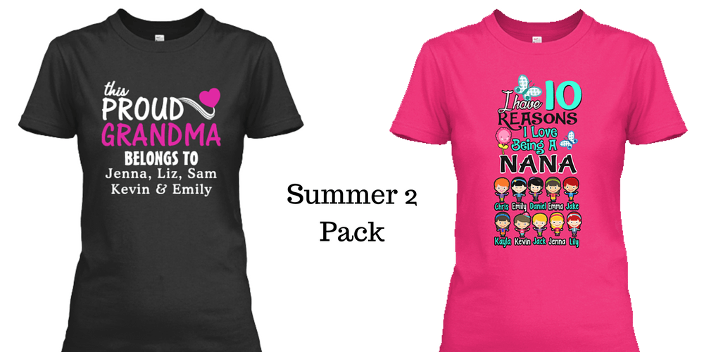 Grandma - The Summer Pack 2. Custom Grandma T-shirts. ( 50% Off)