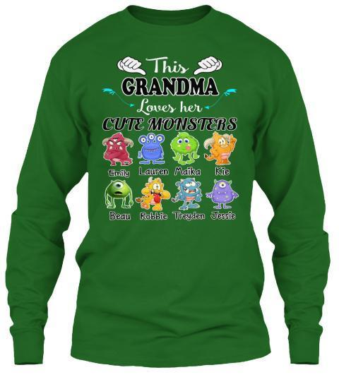 Grandma - This Grandma Loves Her Cute Monsters  ( 70% Off For Today) (Most Grandmas Buy 2 Or More)