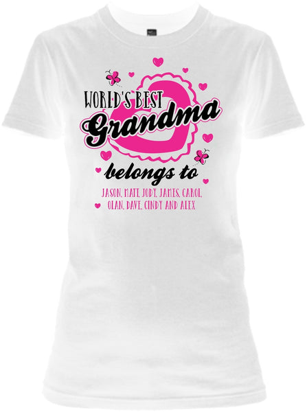 World S Best Grandma Great Grandma Custom Tee 50