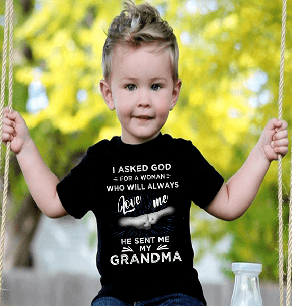 """""I Asked God For A Woman Who Will Always Love Me...."" Custom Shirts"" KIDS T-SHIRT (50% OFF Today)"