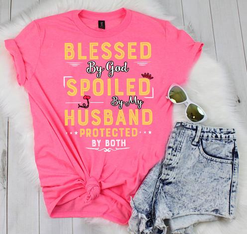 "Grandpa - ""Blessed By God Spoiled By My Husband Protected By Both""(50% Off Today)"