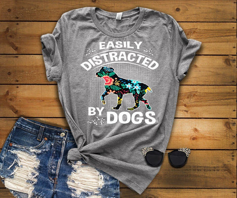 "Grandpa - ""Easily Distracted By Dogs"" Shirt"