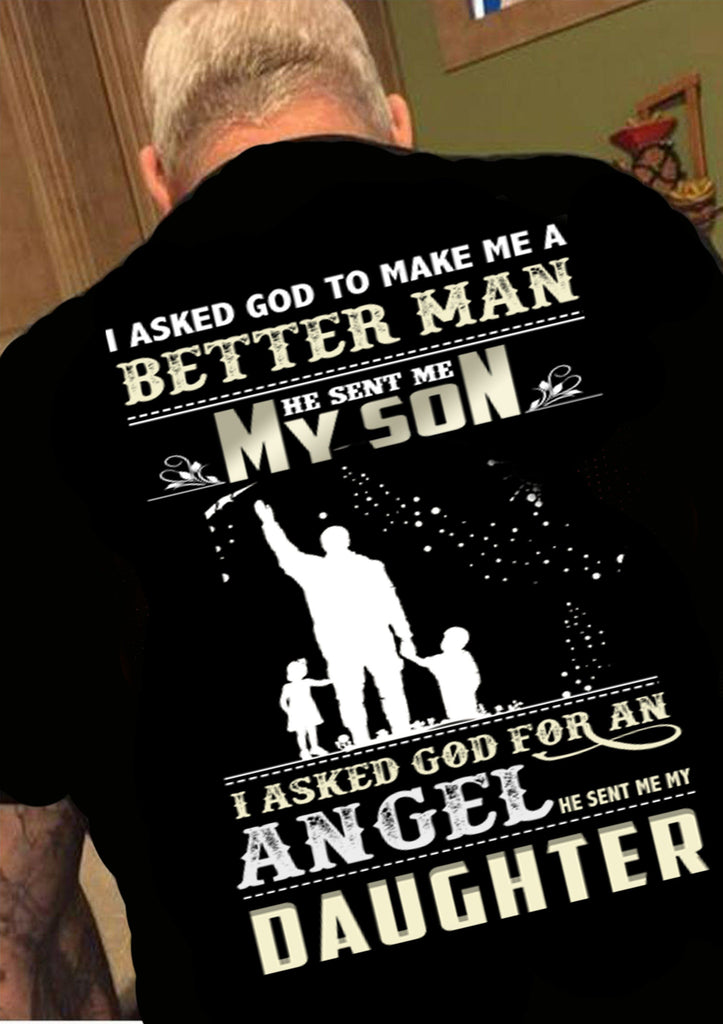 "Grandpa - ""God Sent Me Son And Daughter"" (50% Off Today) Custom Shirts"