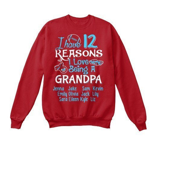 Grandpa - N Reasons I Love Being GrandPa Custom Tee  ( 70% Off For Today). Most Grandpa Order 2.