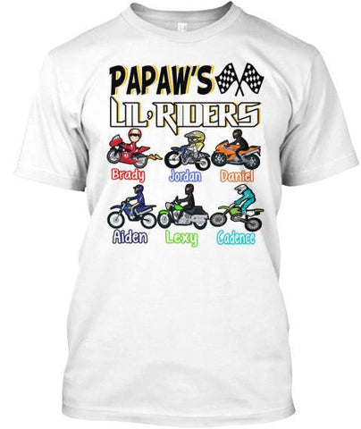 "Grandpa - ""Papaw's Little Rider"" ( 70% Off For Today). Father's Day Special Tee"