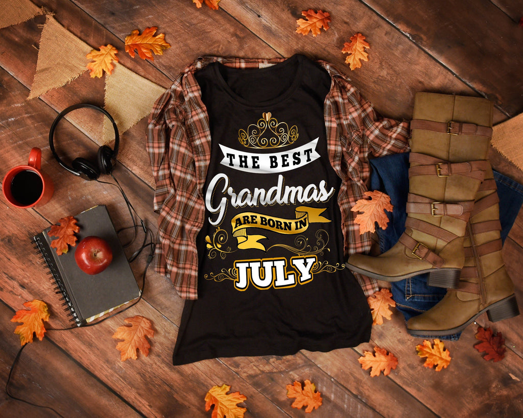 "Grandpa - ""The Best Grandmas Are Born In July""(50% Off Today)Custom Birthday Shirts"