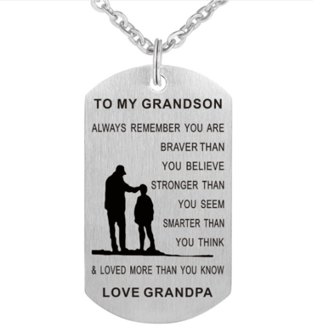 Grandpa To Grandson Necklace. 50% Off.