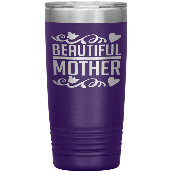"""Beautiful Mother""Tumbler. Personalize Your Nickname Mimi, Gigi, Grandma or Write Your Nick Name Below."