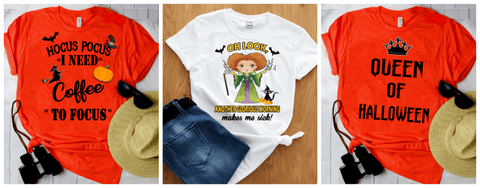 """3 Combo Pack Shirt"" (Halloween designs)"