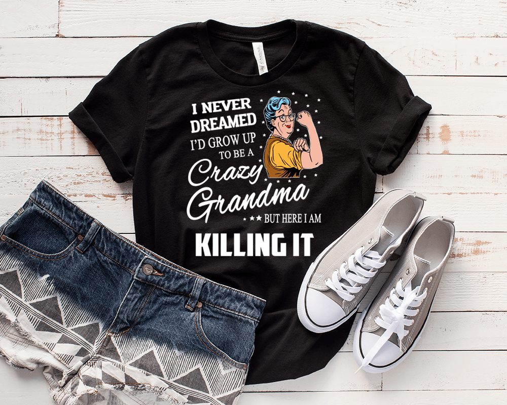 """  I NEVER DREAMED I'D GROW UP....  "" Flat Shipping( Shirt 50% Off Today)"