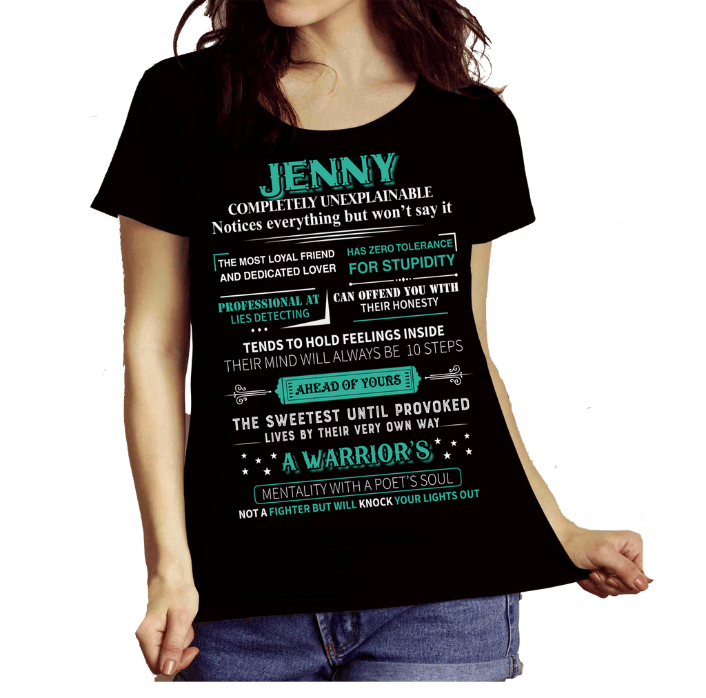 """Jenny, A Warrior Mentality With a Poet's Soul""(Get Your Customized Name Tee)Flat Shipping"