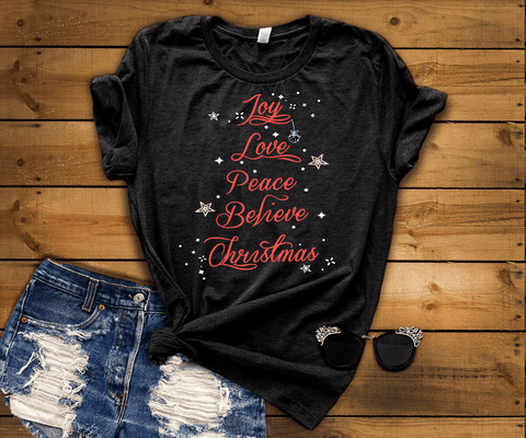 """Joy Love Peace Believe Christmas""(50% Off Today) Flat Shipping (Christmas Special)"