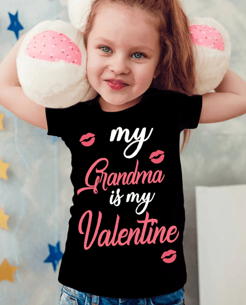 """My Grandma Is My Valentine"" KIDS T-SHIRT (70% OFF Today)"