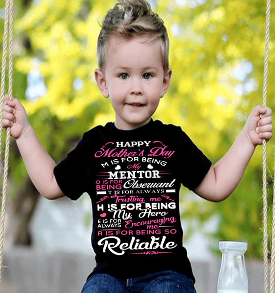"""HAPPY MOTHERS DAY"" KIDS T-SHIRT (50% OFF Today) Buy For All Kids."