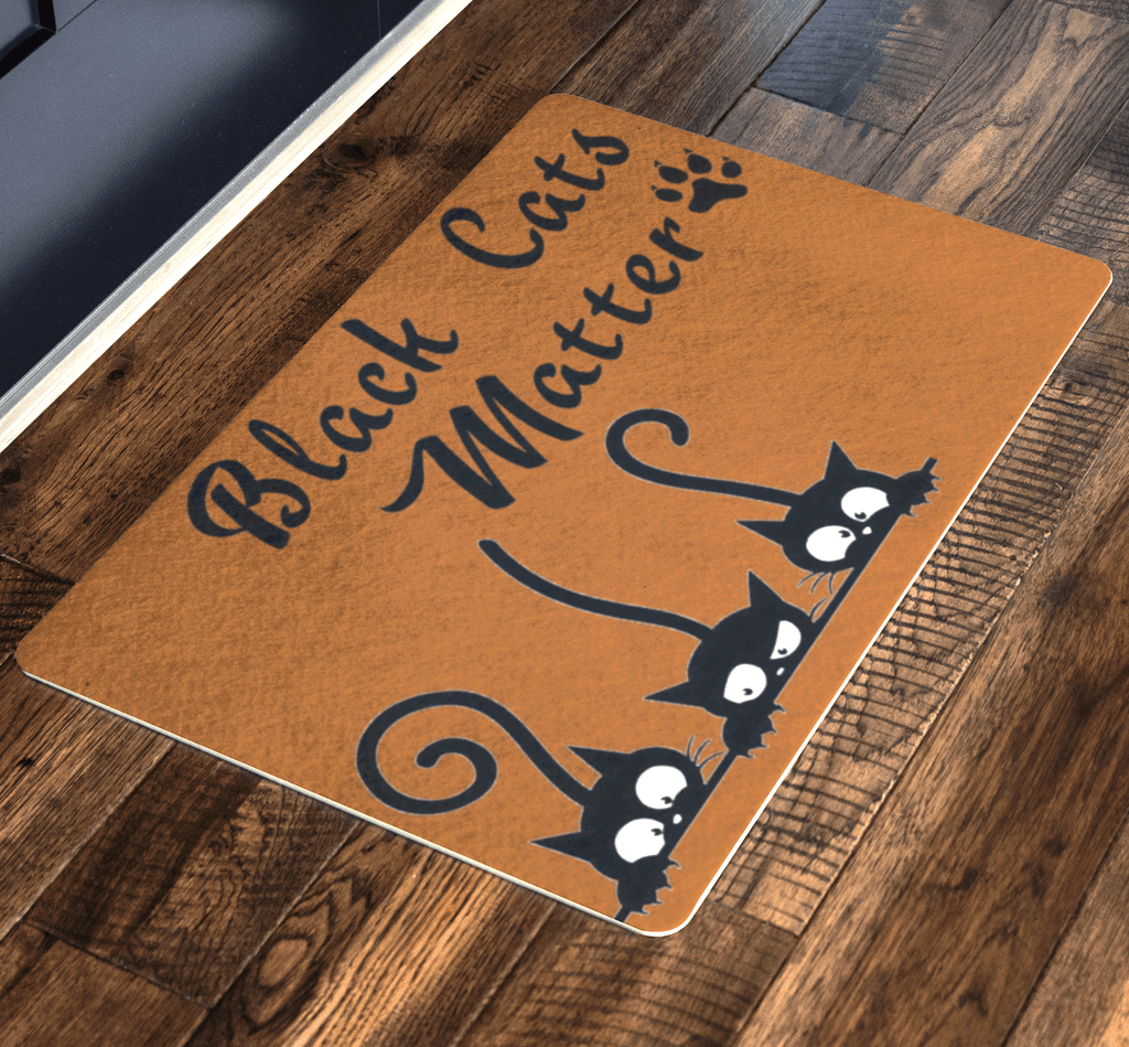Black Cat Matter, Pets Special Doormat For homes Exclusive ( Best price Deal)