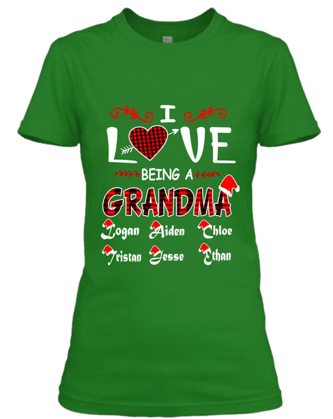 """I Love Being a Grandma"",Customized Your Grandkids Or kids Name."