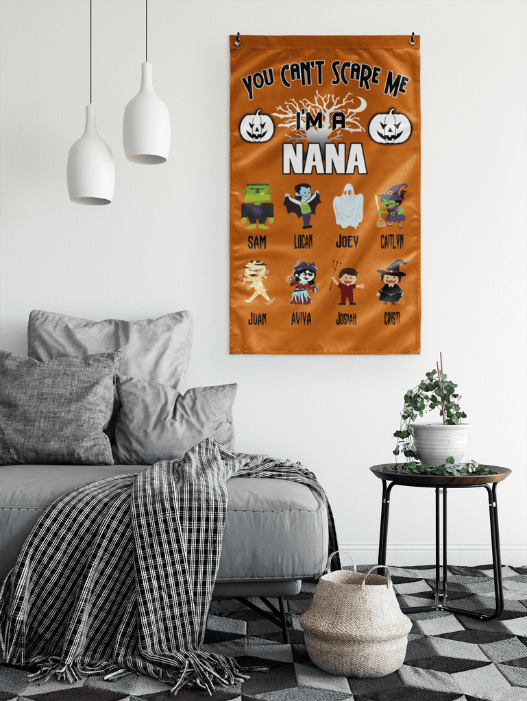 """You Can't Scare Me I'm A Nana"" House flag(Best Price Sale) 50% Off Flat Shipping."