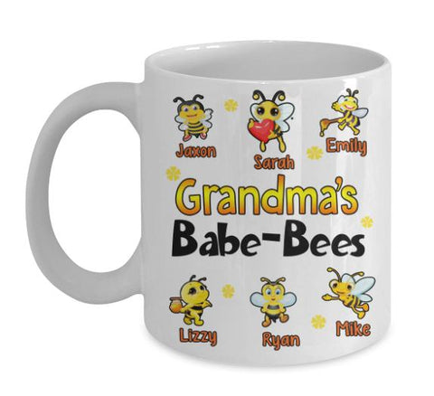 "Mug - Babe-bees Custom Mugs For Parents/Grandparents""New In Store"" 50% Off"