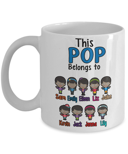 "Mug - ""Coffee With Kids"" Custom ""POP Belongs To"" Mug For Afro-American Kids"