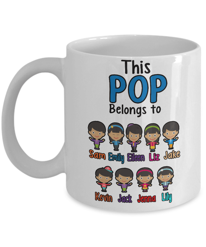 "Mug - ""Coffee With Kids"" Custom ""POP Belongs To"" Mug For Hispanic Kids"