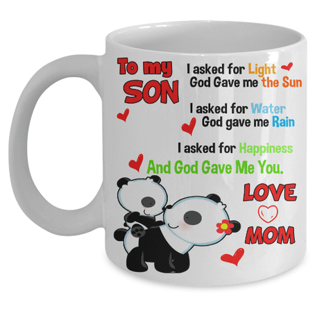 "Mug - God Gave Me You........ Love Note To Kids"" Mugs 50% Off New Year Special"