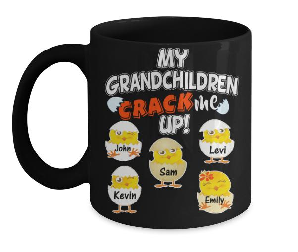 "Mug - My Grandchildren Crack Me Up Mugs For Parents/Grandparents""New In Store"" Easter Special"