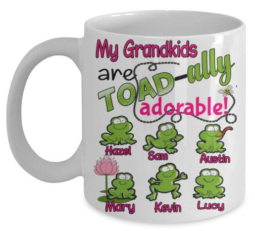 "Mug - Toadally Adorable Custom Mugs For Parents/Grandparents""New In Store"" 50% Off"