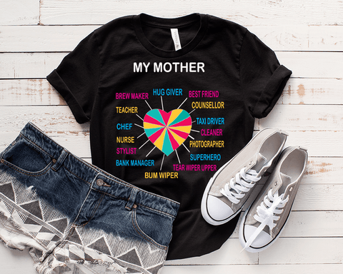 """MY MOTHER'S HEART"",T-SHIRT."