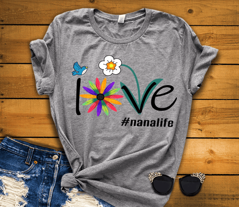 """Love Nana Life""(70% Off) Flat Shipping. Personalize Your Nick. Mimi, Gigi, Grandma or Write Your Nick Name Below. (70% OFF Today Only)"