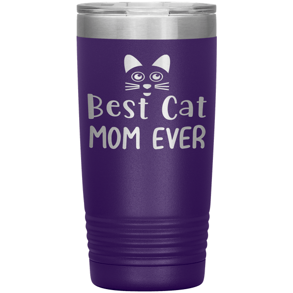 """Best Cat Mom Ever"" Tumbler. Personalize Your Nickname Mimi, Gigi, Grandma or Write Your Nick Name Below."