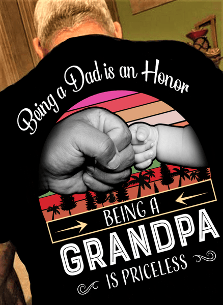 "Being A Papa Is Priceless""( 70% Off for today).Custom Tee n More Fathers and Grandfathers"