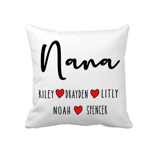 """NANA"", CUSTOMIZED YOUR NICKNAME AND GRANDKIDS NAMES-PILLOW."