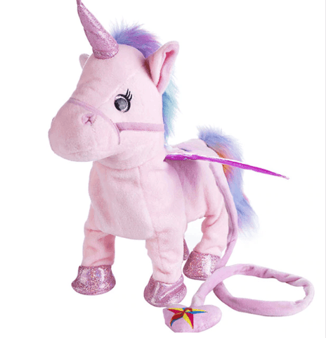 """35cm Electric Walking Unicorn Toy, Stuffed Toy with Electronic Music for Children"""