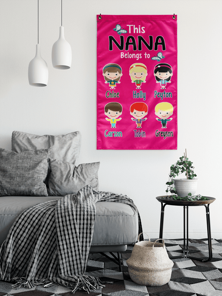 """This Nana Belongs To..."" House flag(Best Price Sale) 50% Off Flat Shipping."