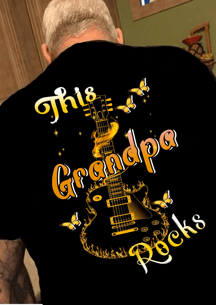 """THIS GRANDPA ROCKS""( 70% Off for today).Custom Tee n More Fathers and Grandfathers"