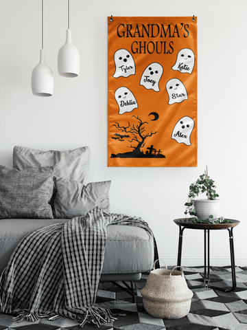 """Grandma's Ghouls"" House flag(Best Price Sale) 50% Off Flat Shipping."