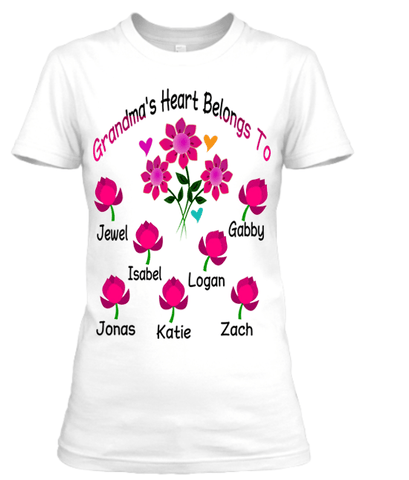 """Grandma's Heart Belongs To.."",T-Shirt."