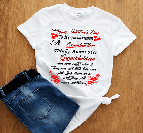 """Happy Valentine's Day To My Grandchildren..."", T-SHIRT."