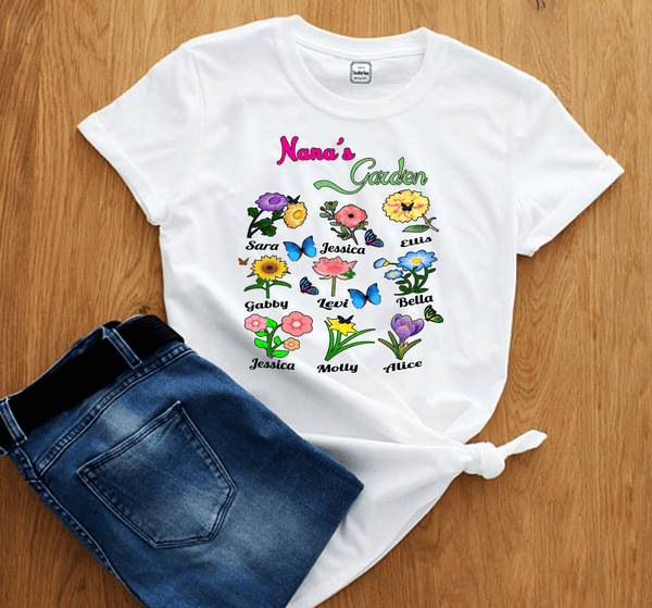 """ NANA'S GARDEN"" Shirt  Flat Shipping(50% Off Today)"