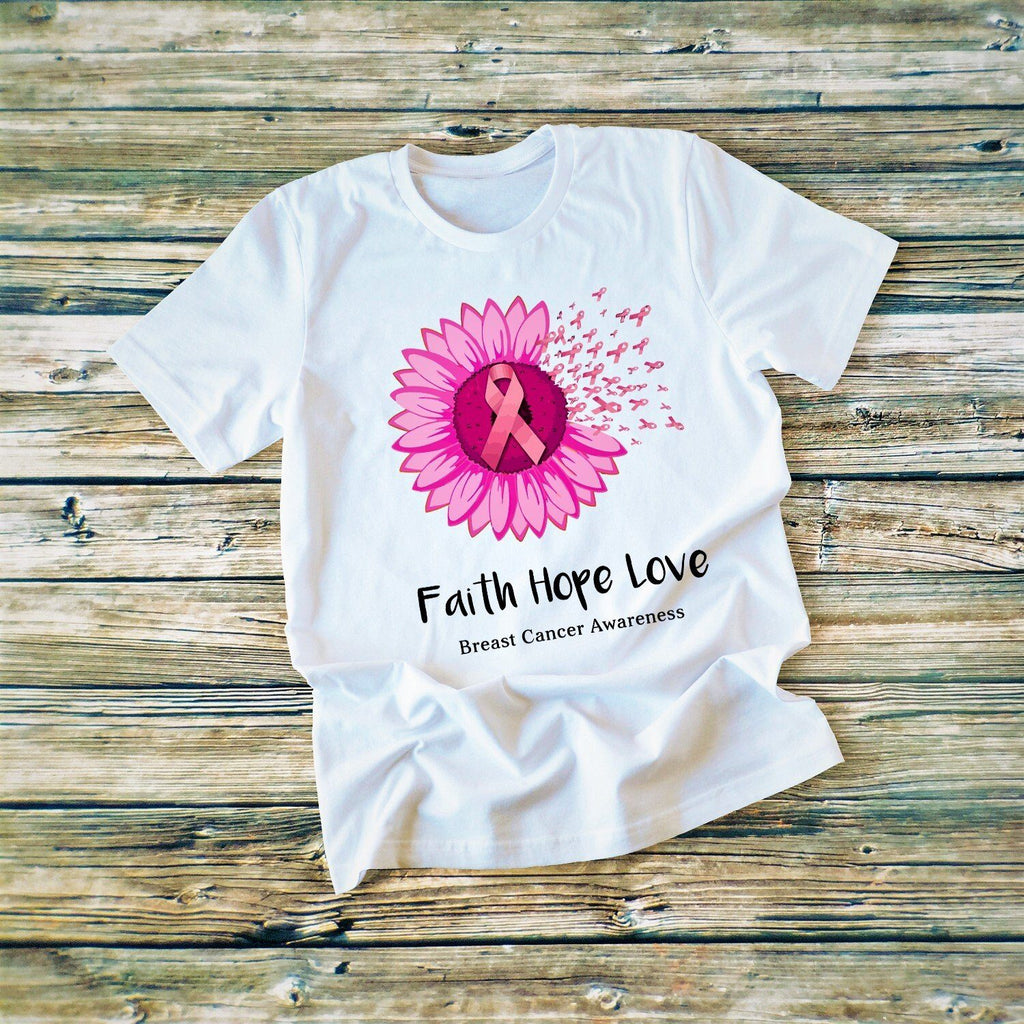 """Faith Hope Love"" White T-shirt"