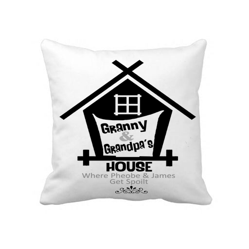 """Granny And Grandpa's House"" Custom Pillow Cover"