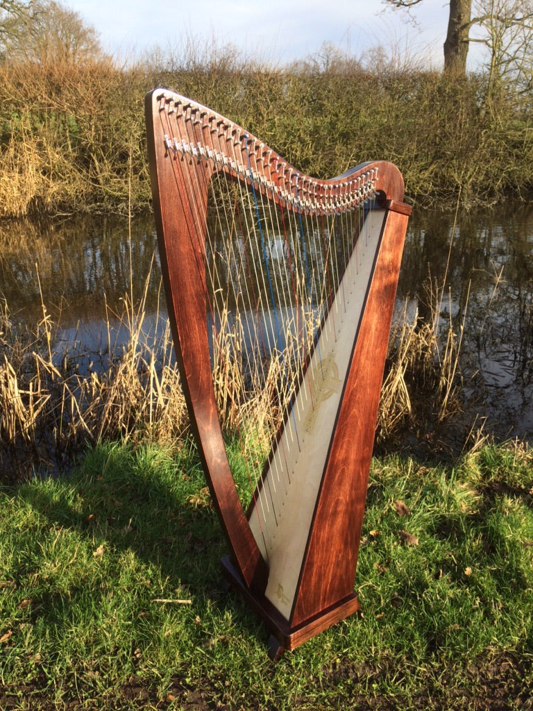 Derwent Harps Explorer II Made in England in Natural Wood Stain Finishes