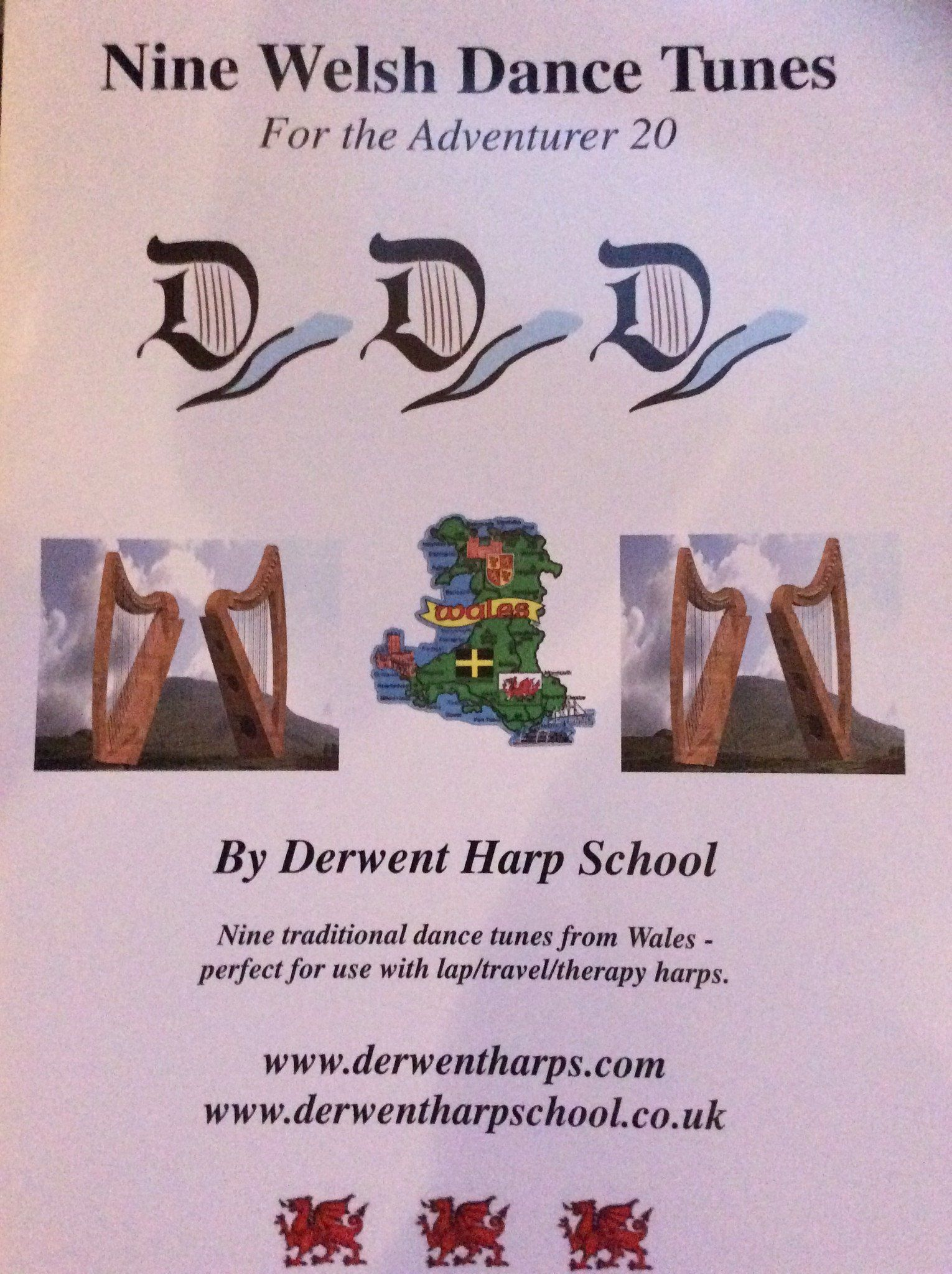Nine Welsh Dance Tunes for the Adventurer 20  - by Derwent Harp School