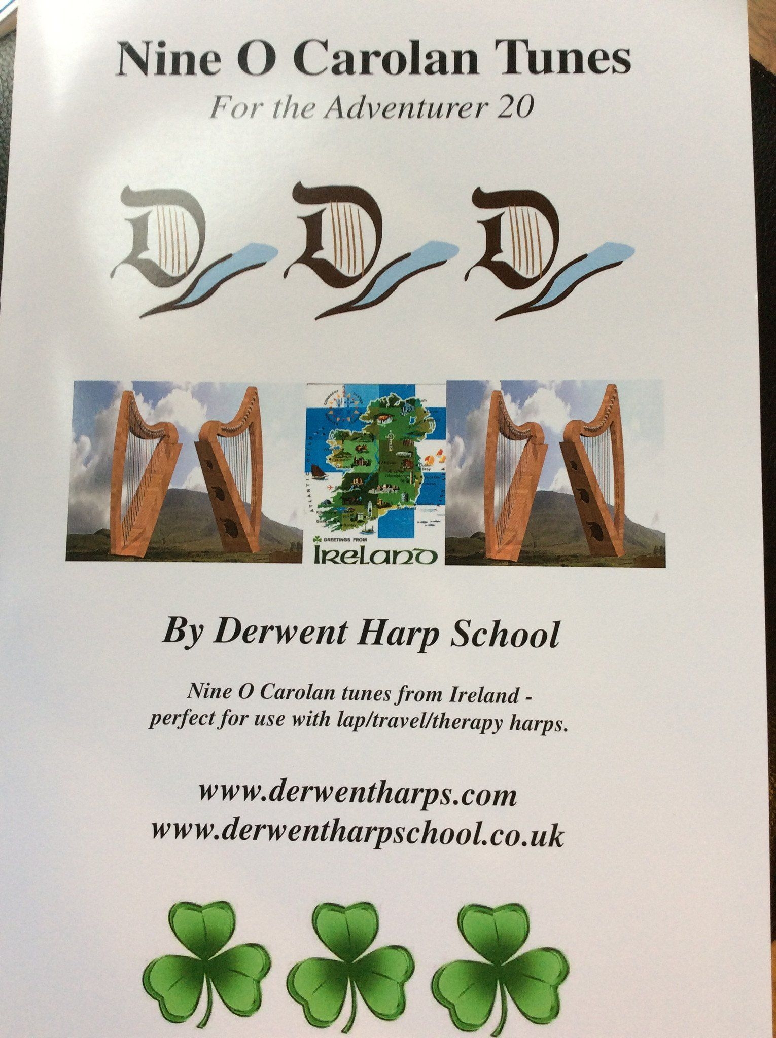 Nine O Carolan Tunes for the Adventurer 20  - by Derwent Harp School