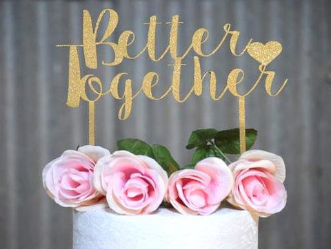 Better Together Wooden Cake Topper