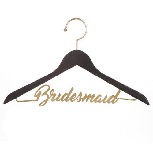 "Black & Gold ""Bridesmaid"" Chalkboard Hanger"