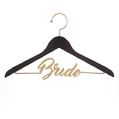 "Black & Gold ""Bride"" Chalkboard Hanger"