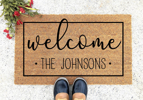 Personalized Welcome Doormat